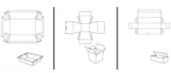 Carton tray templates