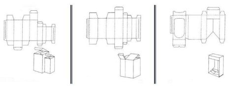 Folding carton box templates