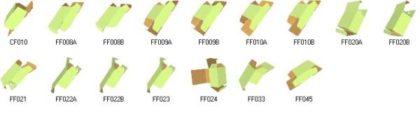 3D tooth paste carton box templates