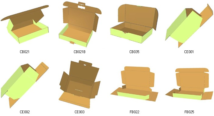 digital products carton box templates corrugated and folding