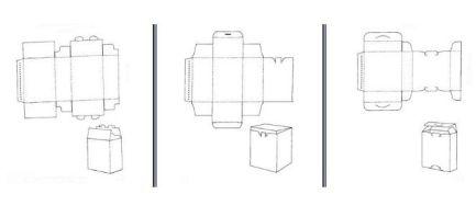 folding carton die line templates
