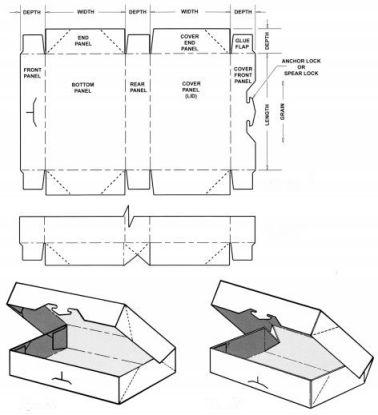 carton tray template