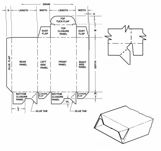 Crash Lock Bottom Corrugated And Folding Carton Box