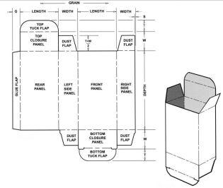 Box Templates Corrugated And Folding Carton Box