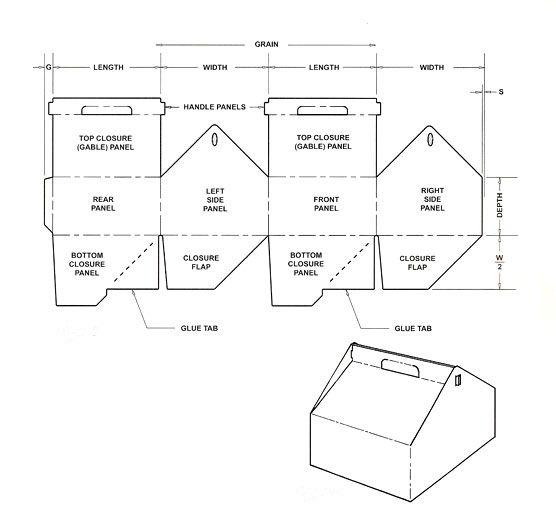 Box templates corrugated and folding carton box for Cylinder packaging template