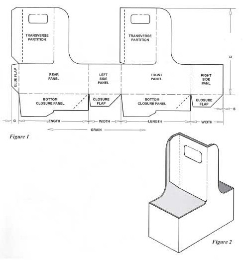 Box templates corrugated and folding carton box for Six pack holder template