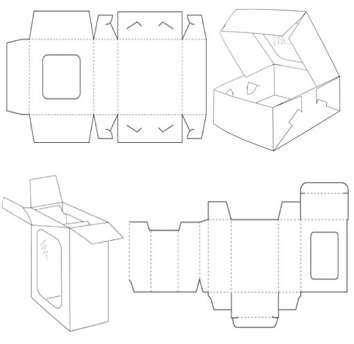 carton box template corrugated and folding carton box templates
