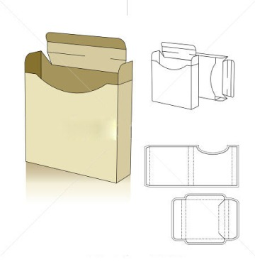 Box templates corrugated and folding carton box templates for Box templates vector