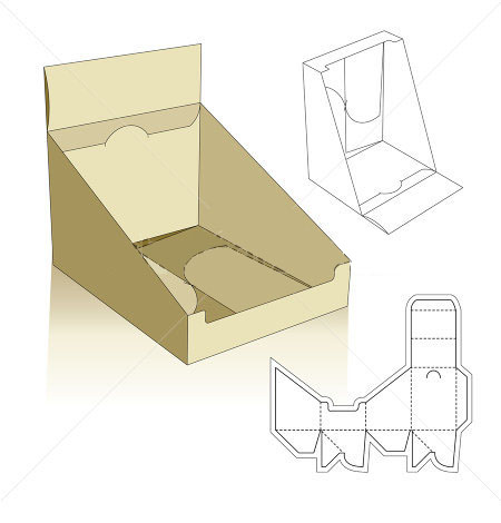 snap lock bottom display template corrugated and folding carton box templates. Black Bedroom Furniture Sets. Home Design Ideas