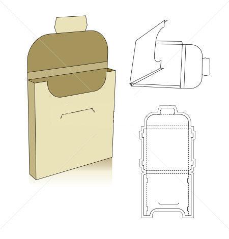 cardboard tray template corrugated and folding carton box templates