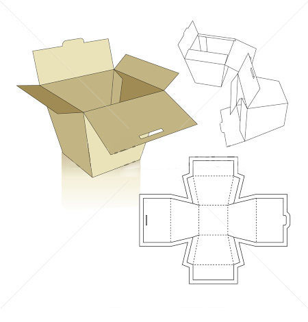 Corrugated and folding carton box templates