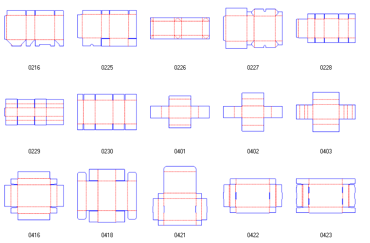 box structures corrugated and folding carton box templates